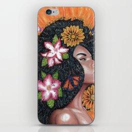Summer Time Black Woman iPhone Skin