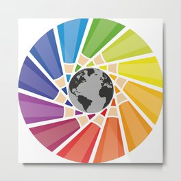 Color your own world Metal Print