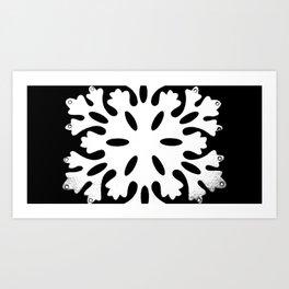 Black and White Snowflake Art Print