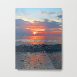A Bubbly Sunset Metal Print