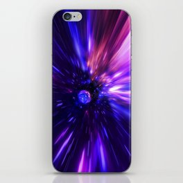 Interstellar, time travel and hyper jump in space iPhone Skin