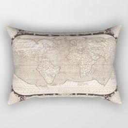 Typvs Orbis Terrarvm (World Map) by Abraham Ortelius (1628) Rectangular Pillow
