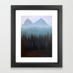 Twin Peaks Glastonberry Grove Landscape Framed Art Print