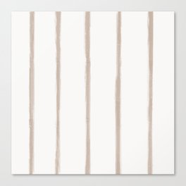 Skinny Strokes Gapped Vertical Nude on Off White Canvas Print