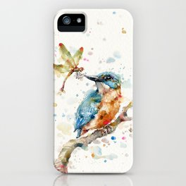 Interesting Relationships (Kingfisher & Dragonfly) iPhone Case