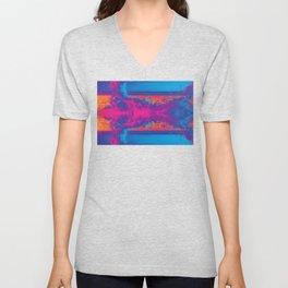 Crashing Waves Abstract Unisex V-Neck