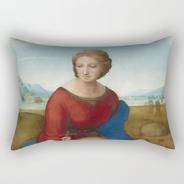 Madonna in the Meadow by Raphael Rectangular Pillow