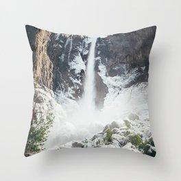 Yosemite Bridal Veil Falls Throw Pillow