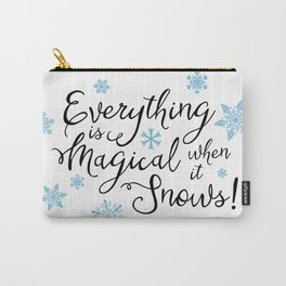 Gilmore Girls Quote - Magical Snow Carry-All Pouch