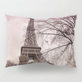 Eifel Tower Paris in pink Pillow Sham