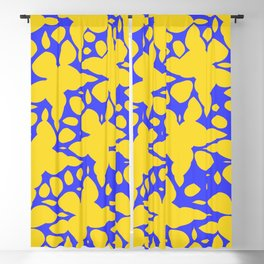 Asymmetry collection: abstract flowers in the water Blackout Curtain