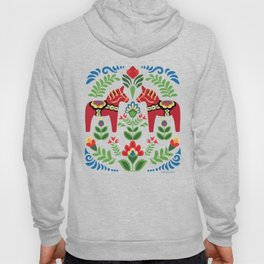 Swedish Dala Horses Red Hoody