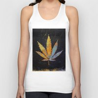cannabis Tank Tops featuring Cannabis by Michael Creese