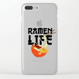 Ramen Life Fun Ramen Noodle Bowl Anime Lovers Clear iPhone Case