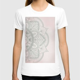Blush Pink and Mint Mandala T-shirt