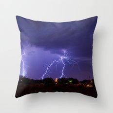 New Mexico Lightning Throw Pillow