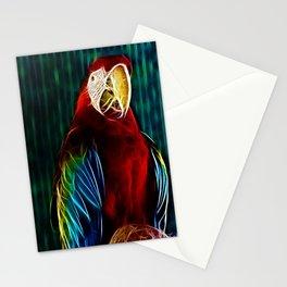 Macaw Portrait Matrix Stationery Cards