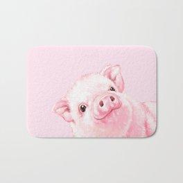 Sneaky Baby Pink Pig Bath Mat