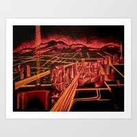 las vegas Art Prints featuring Las Vegas by Rishi Parikh