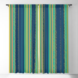 1990's Striped simple bold and colorful design Blackout Curtain
