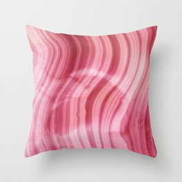 Summer Pink  Mermaid  Marble Throw Pillow