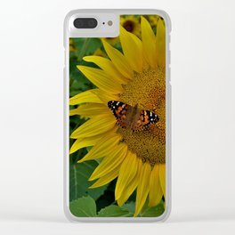 A Thirsty Butterfly Clear iPhone Case