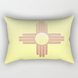 Flag of new mexico  -with color gradient Rectangular Pillow