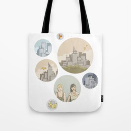 Some cities, a story Tote Bag