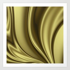 Abstract Fractal Colorways 02 Simple Gold Art Print
