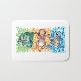 Poke basic trio Bath Mat