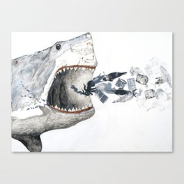 Shark vs. Misc. Canvas Print