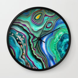 Emerald fantasy Wall Clock