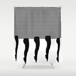Legs and Stripes Shower Curtain