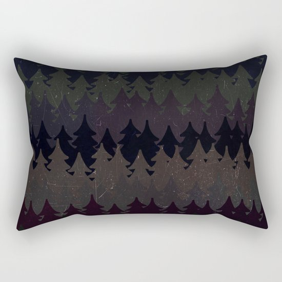The secret forest at night - Abstract dark tree pattern Rectangular Pillow