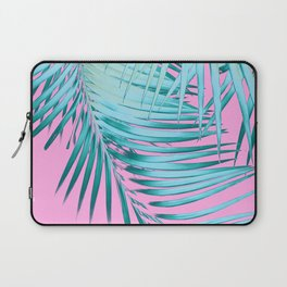 Palm Leaves Pink Blue Vibes #1 #tropical #decor #art #society6 Laptop Sleeve