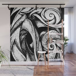 Swirl (black and white) Wall Mural