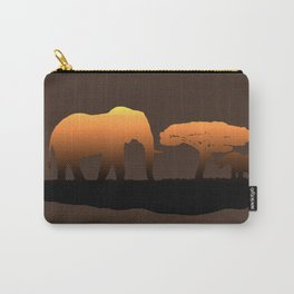 Elephant Sunset Carry-All Pouch