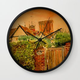 Old roofs Wall Clock
