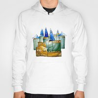castle Hoodies featuring Castle by Irina  Mushkar'ova