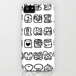 ABC / white & black iPhone Case