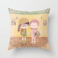 moonrise kingdom Throw Pillows featuring moonrise kingdom by yohan sacre