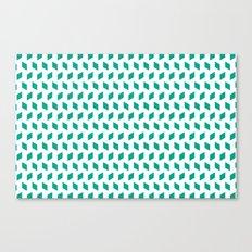 rhombus bomb in emerald Canvas Print