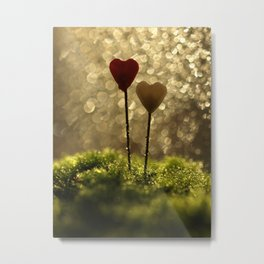 Hearts In The Moss... Metal Print
