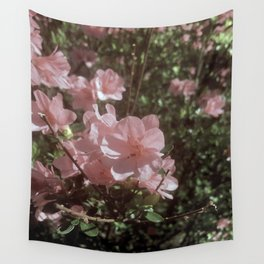 Happy Little Pink Flowers Wall Tapestry