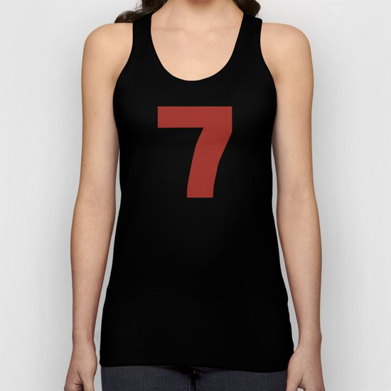 Number 7 Unisex Tank Top