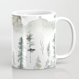 Winter scene houses and trees pattern Coffee Mug