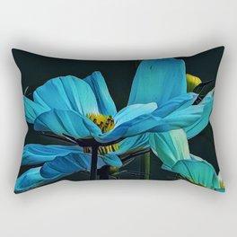 Cool Blue Comos Rectangular Pillow