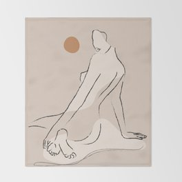 Nude 2 Throw Blanket
