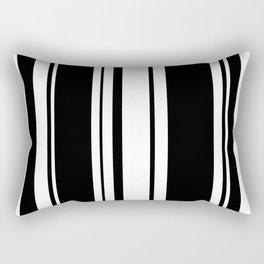 Black and white stripes 3 Rectangular Pillow