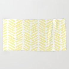 Handpainted Summer Sun Yellow Chevron pattern - Mix & Match with Simplicity of Life Beach Towel